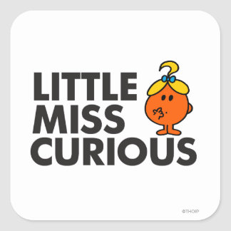Little Miss Curious Classic Stickers