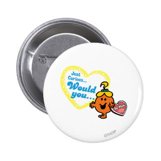 Little Miss Curious Valentine's Day Wish Button
