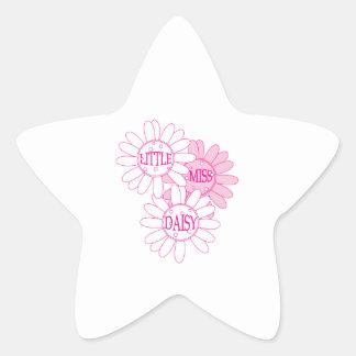 Little Miss Daisy Star Sticker