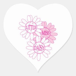 Little Miss Daisy Heart Sticker