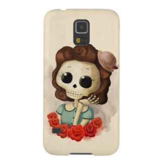 Little Miss Death and Roses Case For Galaxy S5