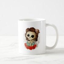 artsprojekt, skeleton, pin up girl, halloween, halloween gift, emo gift, cute halloween, skull, halloween girl, skeleton gift, halloween illustration, halloween idea, trick or treat, halloween design, halloween pin up, skeleton girl, halloween present, emo present, cute skeleton, skeleton present, vintage halloween, skeleton pin up, pin up, Mug with custom graphic design