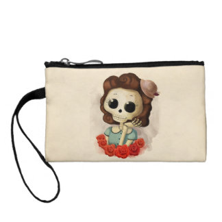 Little Miss Death and Roses Coin Wallet