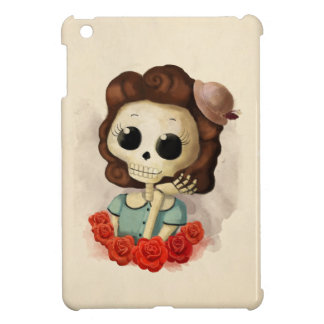 Little Miss Death and Roses iPad Mini Cover