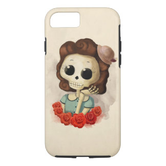 Little Miss Death and Roses iPhone 7 Case