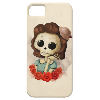 Little Miss Death and Roses iPhone SE/5/5s Case