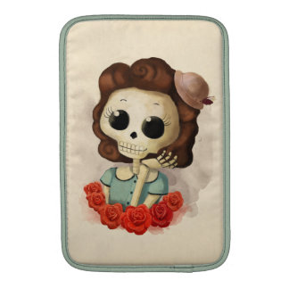 Little Miss Death and Roses MacBook Air Sleeve