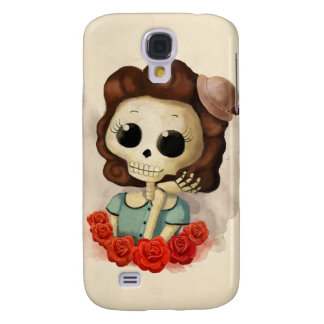 Little Miss Death and Roses Samsung Galaxy S4 Case