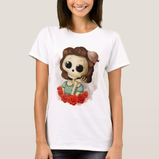 Little Miss Death and Roses T-Shirt