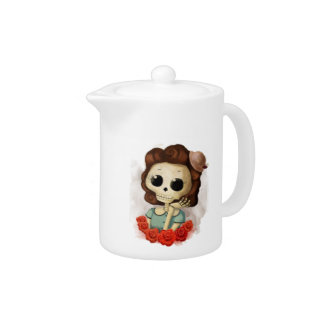 Little Miss Death and Roses Teapot