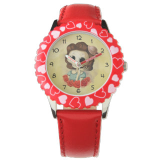 Little Miss Death and Roses Wrist Watch