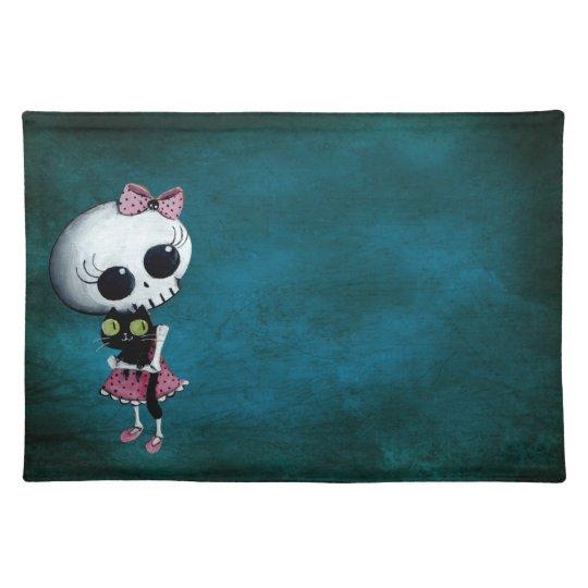 Little Miss Death - Halloween Beauty Cloth Placemat
