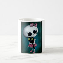 artsprojekt, skeleton, emo design, halloween, skull, emo, halloween girl, halloween gift, cute skeleton, skeleton girl, halloween design, horror, cute horror, halloween idea, cute skull, skeleton pin up, halloween pin up, cute, goth, halloween present, goth gift, goth present, emo present, emo gift, skeleton gift, skeleton present, Mug with custom graphic design