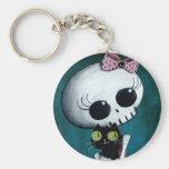 Little Miss Death - Halloween Beauty Basic Round Button Keychain