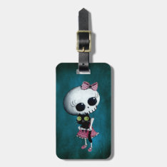 Little Miss Death - Halloween Beauty Luggage Tag at Zazzle