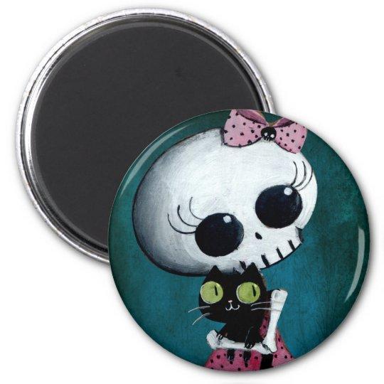 Little Miss Death - Halloween Beauty Magnet