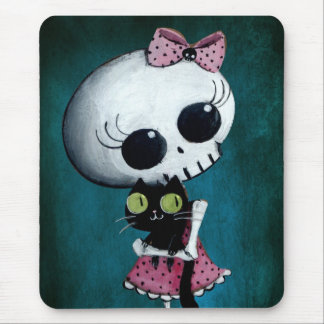 Little Miss Death - Halloween Beauty Mouse Pad
