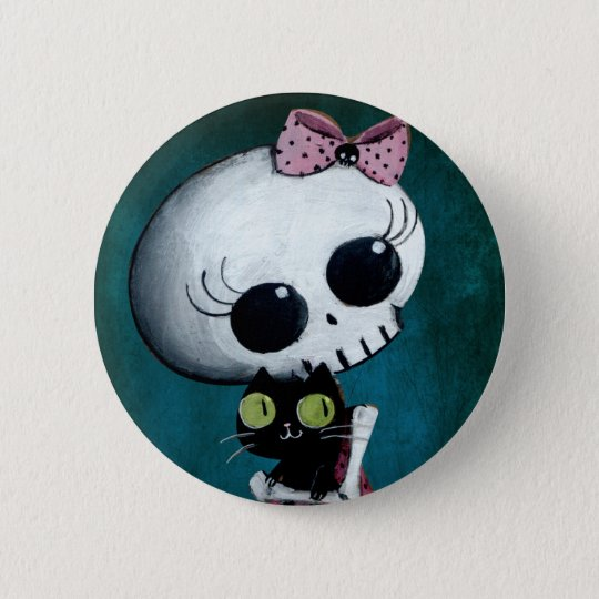 Little Miss Death - Halloween Beauty Pinback Button