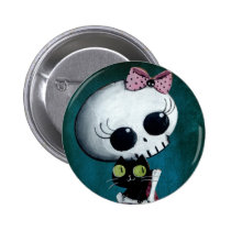 artsprojekt, skeleton, emo design, halloween, skull, emo, halloween girl, halloween gift, cute skeleton, skeleton girl, halloween design, horror, cute horror, halloween idea, cute skull, skeleton pin up, halloween pin up, cute, goth, halloween present, goth gift, goth present, emo present, emo gift, skeleton gift, skeleton present, Button with custom graphic design