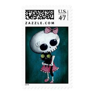 Little Miss Death - Halloween Beauty Postage