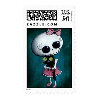 Little Miss Death - Halloween Beauty Postage