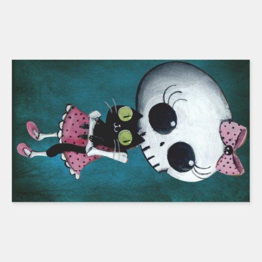 Little Miss Death - Halloween Beauty Rectangular Sticker