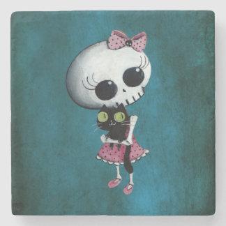 Little Miss Death - Halloween Beauty Stone Coaster