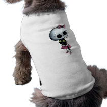 artsprojekt, skeleton, emo design, halloween, skull, emo, halloween girl, halloween gift, cute skeleton, skeleton girl, halloween design, horror, cute horror, halloween idea, cute skull, skeleton pin up, halloween pin up, cute, goth, halloween present, goth gift, goth present, emo present, emo gift, skeleton gift, skeleton present, [[missing key: type_petshir]] with custom graphic design