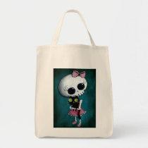 artsprojekt, skeleton, emo design, halloween, skull, emo, halloween girl, halloween gift, cute skeleton, skeleton girl, halloween design, horror, cute horror, halloween idea, cute skull, skeleton pin up, halloween pin up, cute, goth, halloween present, goth gift, goth present, emo present, emo gift, skeleton gift, skeleton present, Bag with custom graphic design