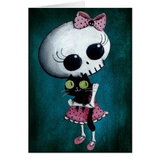 Little Miss Death - Hallowen Beauty Cards