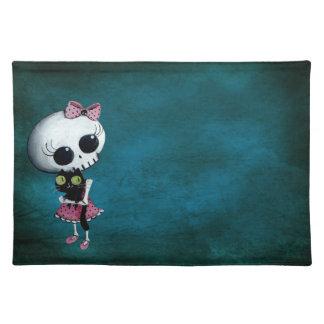 Little Miss Death - Hallowen Beauty Place Mat