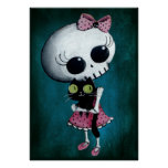 Little Miss Death - Hallowen Beauty Poster