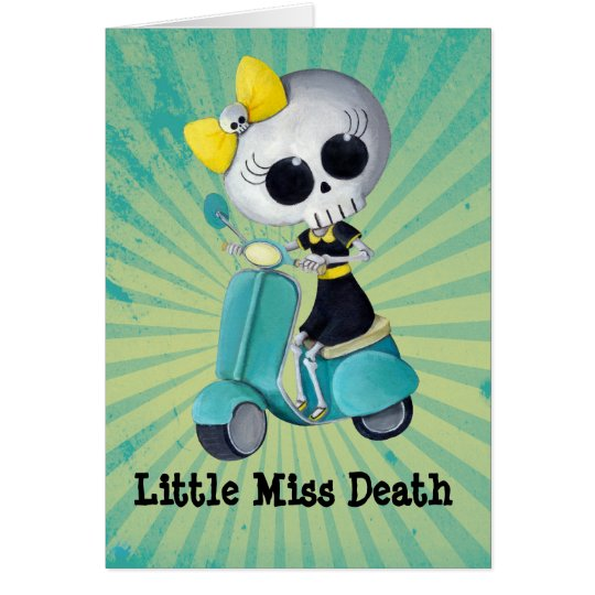 Little Miss Death on Scooter Card
