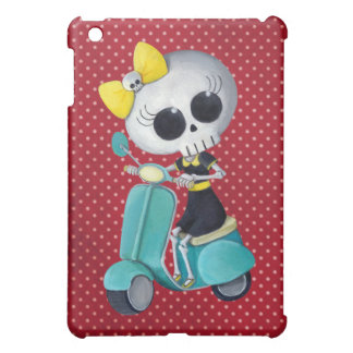Little Miss Death on Scooter Cover For The iPad Mini