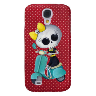 Little Miss Death on Scooter Galaxy S4 Cover