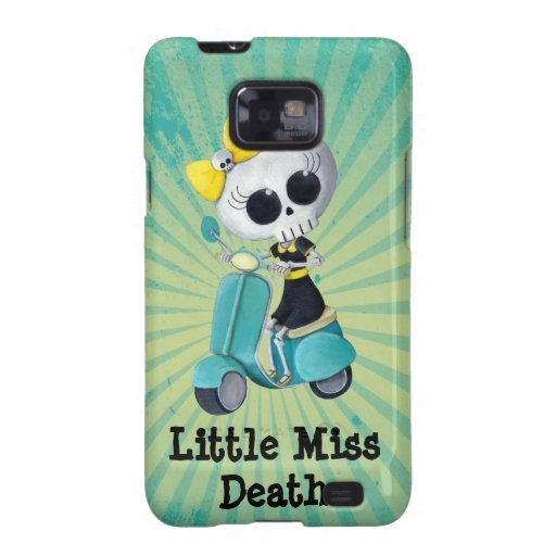 Little Miss Death on Scooter Galaxy SII Cases