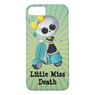 Little Miss Death on Scooter iPhone 7 Case