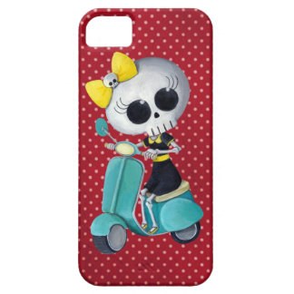 Little Miss Death on Scooter iPhone SE/5/5s Case