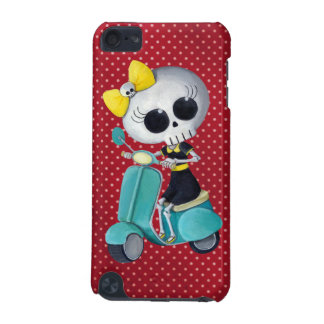 Little Miss Death on Scooter iPod Touch (5th Generation) Case