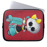 Little Miss Death on Scooter Laptop Computer Sleeve