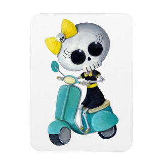 Little Miss Death on Scooter Magnet