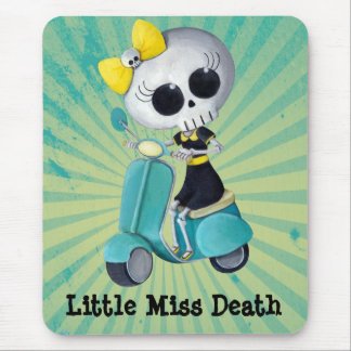 Little Miss Death on Scooter Mouse Pad