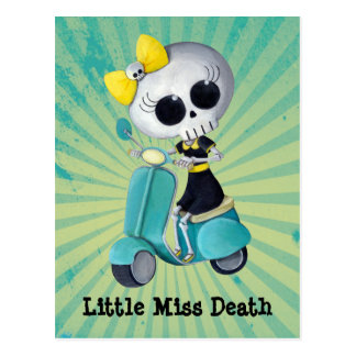 Little Miss Death on Scooter Postcard