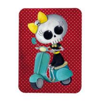 artsprojekt, cute skeleton, emo gift, skeleton, scooter, cute skull, scooter gift, skull, halloween, emo, vespa, lambretta, skeleton scooter, scooter rally, modette, emo illustration, cute, dead girl, mod, skeleton girl, scooter girl, scooter present, skeleton gift, skeleton present, emo present, [[missing key: type_fuji_fleximagne]] com design gráfico personalizado