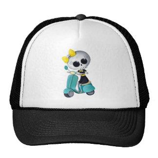 Little Miss Death on Scooter Trucker Hat