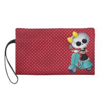 artsprojekt, cute skeleton, emo gift, skeleton, scooter, cute skull, scooter gift, skull, halloween, emo, vespa, lambretta, skeleton scooter, scooter rally, modette, emo illustration, cute, dead girl, mod, skeleton girl, scooter girl, scooter present, skeleton gift, skeleton present, emo present, [[missing key: type_bagettes_ba]] with custom graphic design