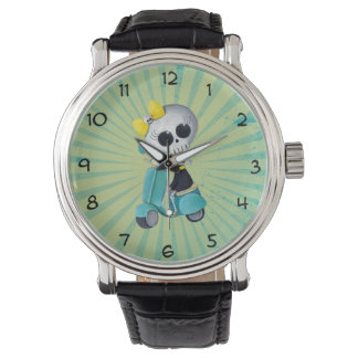 Little Miss Death on Scooter Wristwatches
