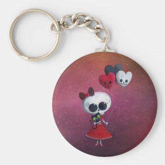Little Miss Death Valentine Girl Keychain