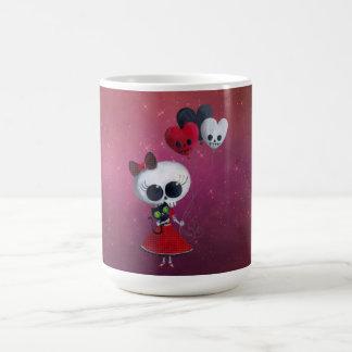 Little Miss Death Valentine Girl Classic White Coffee Mug