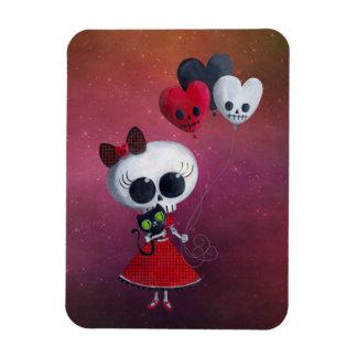 Little Miss Death Valentine Girl Rectangular Photo Magnet